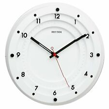 Contemporary Rhythm White Wall Clock with Terraced Glass Front 30cm  - HP023305