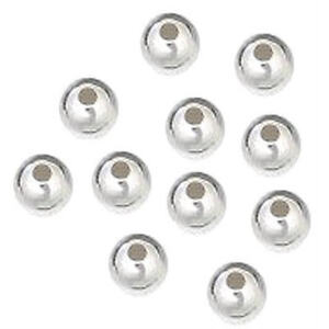 3mm Seamless Round Beads - Sterling Silver w/WB core - Package of 100