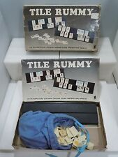 TILE RUMMY BOARD GAME 19?? Family Semi-Complete Vintage Hansen