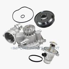 Water Pump + Gasket + Thermostat + Pulley Kit BMW 550i 650i 750i 750Li 779 New