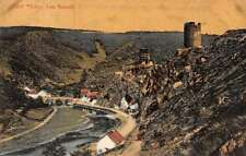 Esch Luxembourg panoramic birds eye view castle ruins antique pc Z17984