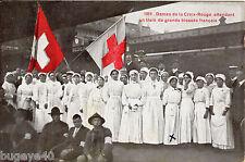 Infirmières Français Croix Rouge sur Plateforme Geneva ? Schémas Message Wounded
