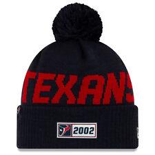 Nfl Houston Texans Road Sideline 2019 Bobble Woolly Hat Cuffed Knit Newera