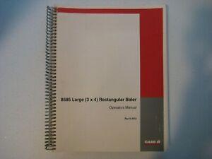 New Case IH 8585 Large (3x4) Rectangular Baler Operator's Manual 6-3552