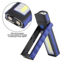 Portable COB LED Work Light Magnet Garage Flashlight Stand Hanging Flash