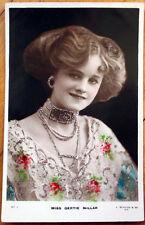 1905 Realphoto Theatre/Stage Actress Postcard: Gertie Millar w/Glitter Applied