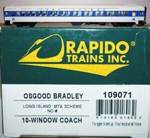 Long Island No# MTA Scheme 10-Windoww Coach Rapido 109071 HO Scale JA22.17