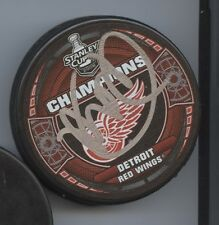 MIKE BABCOCK DETROIT RED WINGS 2008 STANLEY CUP CHAMPS SIGNED HOCKEY PUCK w/ COA
