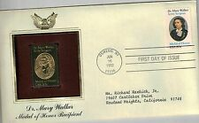 #2013 1982 20-cent Dr. Mary Walker First Day Cover Golden Replica