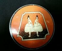VTG  COLLECTIBLE COLUMBIA CARBON CO. TYPEWRITER RIBBON TIN GOOD & PLENTY TWINS