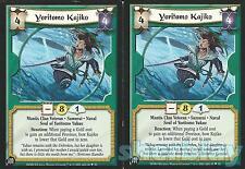L5R Legend of the Five Rings Diamond 2X YORITOMO KAJIKO