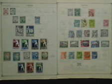 LATVIA COLLECTION ON PAGES MH/USED STAMPS