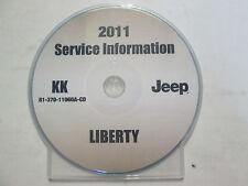 2011 JEEP LIBERTY Service Shop Repair Workshop Manual CD New Factory