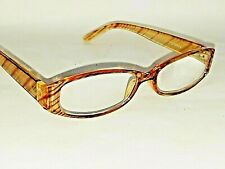 Womens Essentials Tiger Stripe Brown Reading Glasses Gail by Foster Grant