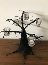 Illuminations Spooky Halloween Black Wire Tree Candelabra Candle Holder Large