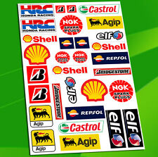 Planche 31 Autocollants Auto SHELL Huiles Rally Agip NGK Castrol Sticker D 51