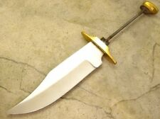 "6"" Bowie Knife Making Blade Blank kit Rat tail Tang w/ Brass Guard"