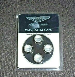 RARE ASTON MARTIN Silver Colored Valve Stem Caps/Covers Set, New In Package