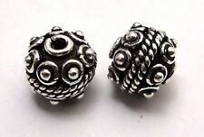 8 PCS SOLID COPPER METAL BEAD 11MM ANTIQUE SILVER PLATED #20