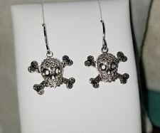 Kays Kay Jewelers 10k White gold Skull diamond dangle Earrings $385
