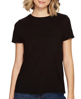 Richer Poorer Crew Pocket Tee Black Women's Size M 66108