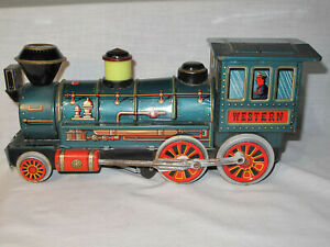VINTAGE WESTERN TRAIN ENGINE LOCOMOTIVE TIN TRADE MARK MODERN TOYS (Parts ONLY)