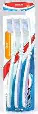3 x Aquafresh Flex Adult Family Manual Oral Toothbrush Medium Gentle on Gum New