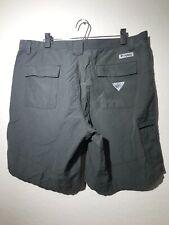 Mens Columbia PFG Omni-Shade Hiking Fishing Cargo Shorts Size 40 - Gray
