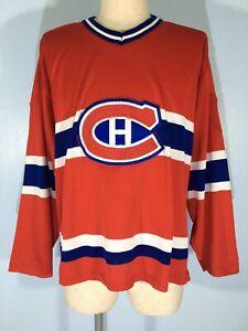 MONTREAL CANADIENS CCM VINTAGE 90s ICE HOCKEY NHL TEE SHIRT BLACK JERSEY MENS L