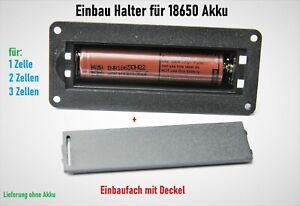 18650 Batteriehalter Gehäuse für 1x/2x/3x Lithium Zellen Akkus Einbau Fach