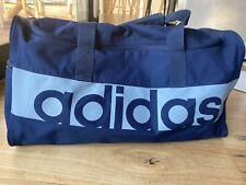 Like New Adidas Navy Holdall Bag Zipped Size Medium