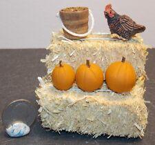 Dollhouse Miniature Farm Chicken Hay Bales Pumpkins G 1:12 H147 Dollys Gallery