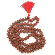 9 Mukhi Rudraksha Mala Certified Indonesian / Java 108+1 beads | DHL Shipping