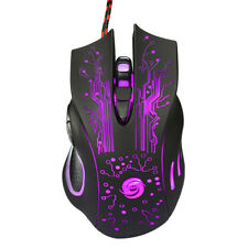 6 Button 3200 DPI LED Wired USB Ergonomic Optical Gaming Mouse for PC Laptop Mac