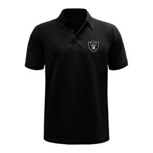 Las Vegas Raiders Polo Shirt Oakland Button Golf Chest