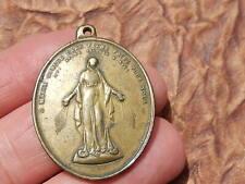 Grande   MEDAILLE MIRACULEUSE COEUR JESUS MARIE MIRACULOUS ANCIENNE medal   THFR