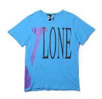 Vlone Friends T-shirt Mens Hip-hop Top Tee Shirts Casual Short Sleeves blue