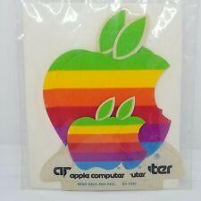 Apple Computer Vintage RARE Rainbow Logo Decal Stickers X 4 NEW