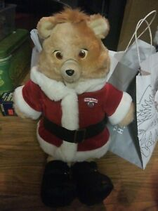 Teddy Ruxpin Vintage 1985 Talking Animated Bear In Santa Claus Suit