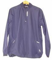 New Balance Mens Lightweight Packable Running Jacket Quarter Zip Blue L