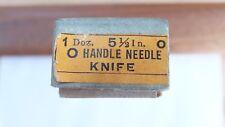 NOS Nicholson file round handle needle knife 5 1/2 inch cut 0