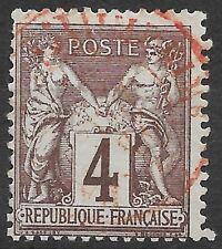 France-Sage-Cachet à date des imprimés rouge sur n°88