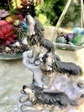 Beautiful Marked Maruri National Parks Collection Wolves 1993 Porcelain Figurine