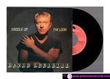 "DAVID CHRISTIE SADDLE UP + THE LOOK 1982 POLYDOR ITALY 7"" 45 RPM"
