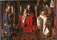 Alte Kunstpostkarte - Van Eyck - De Madonna mit Kanunnik Joris Van der Paele,...