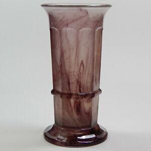 """Vintage Davidson Amethyst Purple 10"""" Cloud Glass Vase Art Deco 20's 30's"""