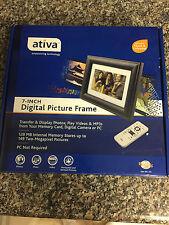 Ativa 7 Inch Digital Photo Picture Frame NIB