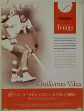Affiche Tennis GUILLERMO VILAS Occidental Club
