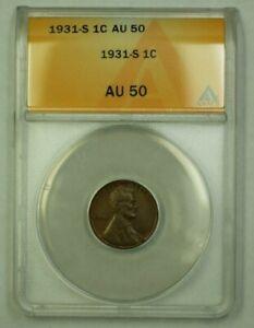 1931-S Lincoln Wheat Cent 1c ANACS AU-50 (D) (WW)