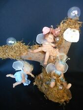 One of Kind Hand Sculpted Fairie Tree  by Original Doll Artist Virginia Keith